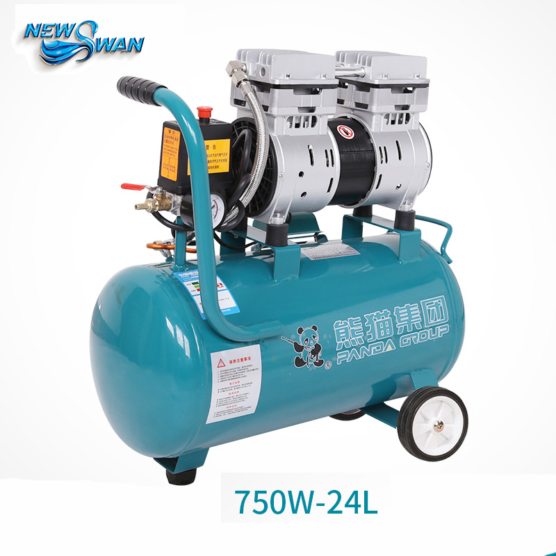Oil - free Air Compressor High - pressure Gas Pump Spray Woodworking Air compressor small pump 750W24L tdoubeauty dental greeloy silent oil free air compressor ga 62 free shipping
