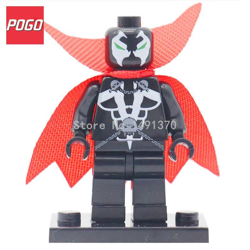 POGO Avengers 2 Super Heroes Figure Single Sale DC Marvel Villain Galactus Riddler Batman Joker Building Block Toys Hobbies