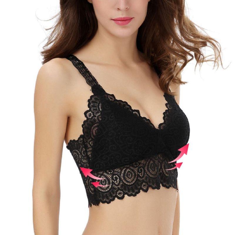 2019 Comfortable Women Girl Sport bra Lace Harness Vest Gathered Underwear Tube Top Yoka Running Bra(China)