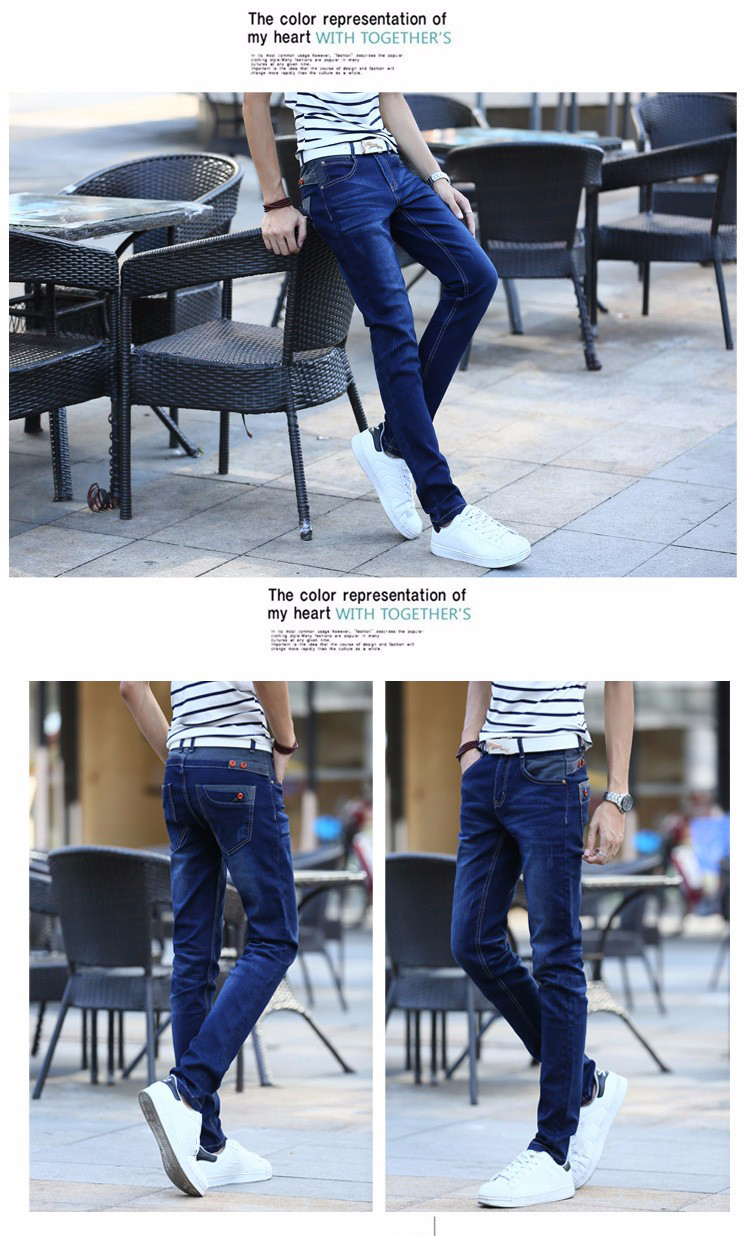 KSTUN Jeans Men's Stretch Blue Buttons Pockets Design Slim Fit Skinny Denim Pants Joggers Jeans Casual Biker Motor Male Trousers 12
