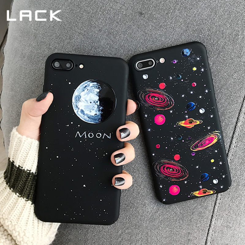 LACK Cartoon Planet Moon Star Phone Case For iphone 7 6 6s 8 Plus Fashion Space Cute Starry sky Cases For iphone X Hard Cover