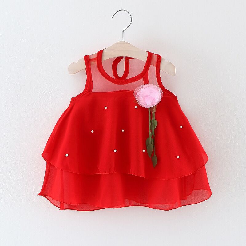 Summer Kids Dresses for Girls Lace Tulle Baby Tutu New Princess Dress for Party and Wedding Girls Clothes Decorative Flowers