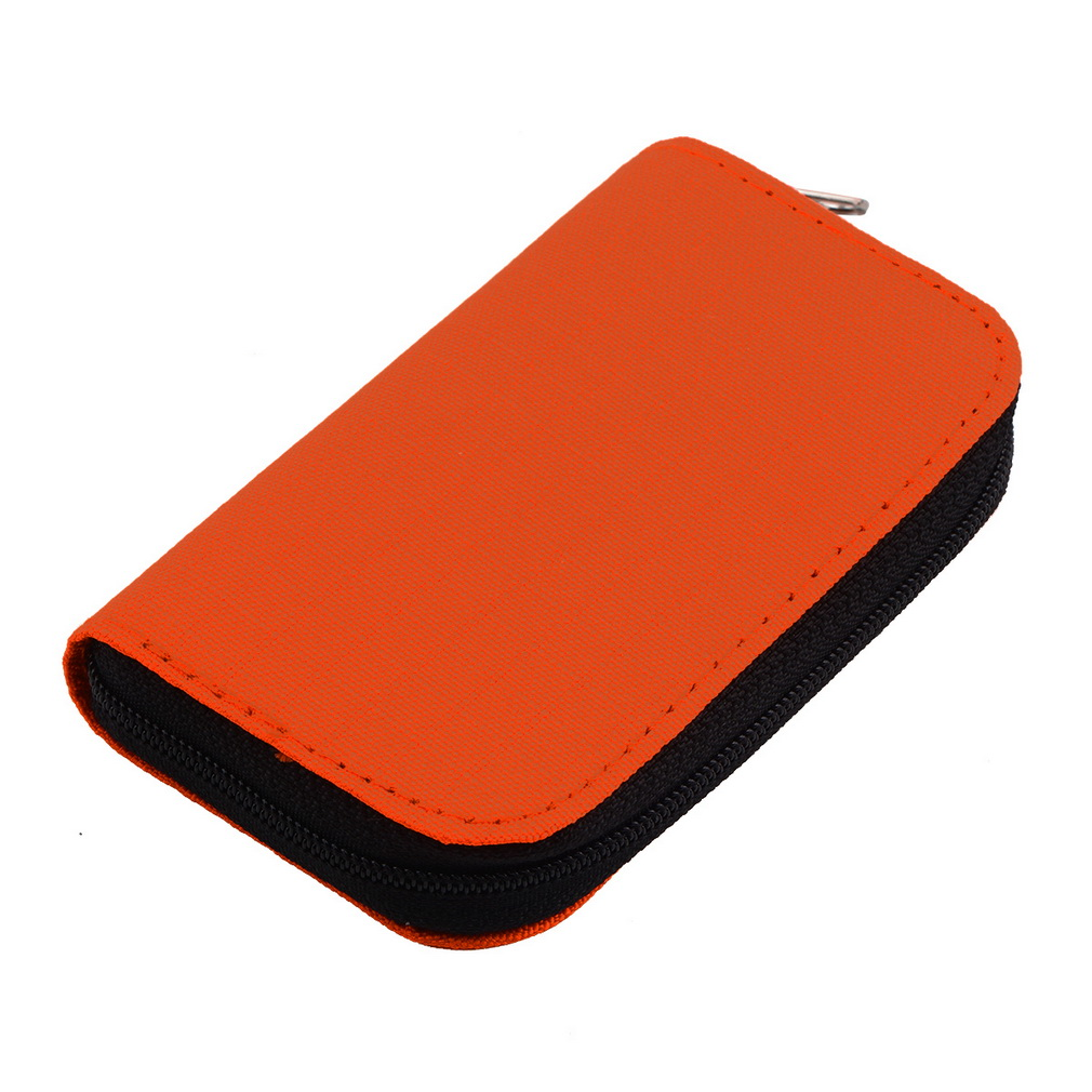 New Hot Selling Orange SD SDHC MMC CF For Micro SD Memory Card Storage Carrying Pouch Card Holder Case Wallet