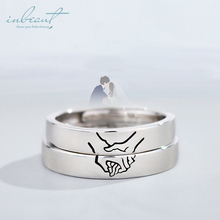 inbeaut Silver Hold You Hands Couple Rings 925 Forever Together Love Gesture Ring for Women Wedding Jewelry Female Engagement