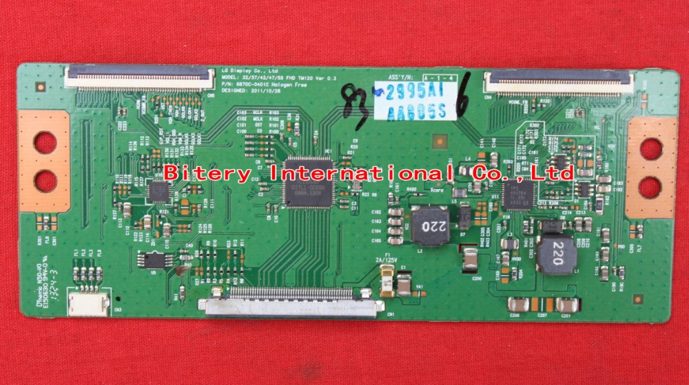 <font><b>T</b></font>-CON board LC 37 42 47 <font><b>55</b></font> FHD TM120 VER 0.2 6870C-0401B 6870C-0401C for LG LED LCD TV logic board image