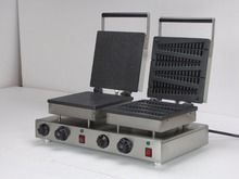 220V Electric double heads Rectangle Shaped Egg waffle maker and Lolly waffle maker