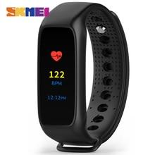 SKMEIผู้ชายนาฬิกาสปอร์ตสมาร์ทสายรัดข้อมือL28Tรุ่นที่สองL30T LEDแสดงผลแบบสัมผัสหน้าจอสีอัตราการเต้นหัวใจดิจิตอลนาฬิกาข้อมือ