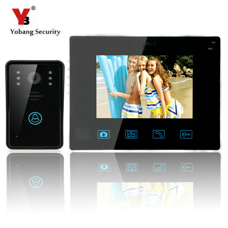 Yobang Security-9 Inch 0.3 MP LCD Monitor Video Record Door Phone System Doorbell 700 Line Wireless Video Intercom CMOS Camera yobang security free ship 7 video doorbell camera video intercom system rainproof video door camera home security tft monitor