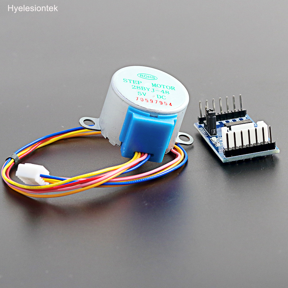 Stepper Motor For Arduino 28byj-48 Gear DC 5V 4-Phase 5-Wire Geared Stepper Motor + ULN2003A Driver Board Set Controller Module dc 5v 28ybj 48 stepper motor for arduino works with official arduino boards 2 pcs