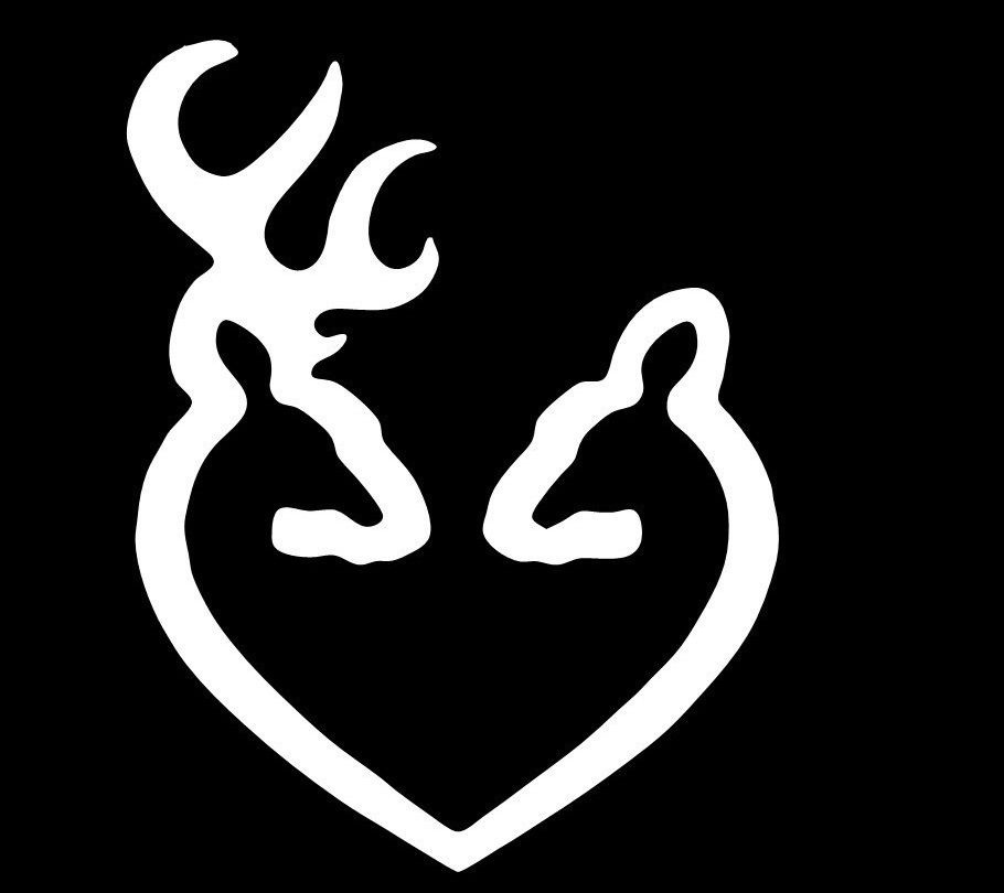"Camo Buck Doe Deer Vinyl Decal Sticker Hunting 4/"" Buck Hunting CamoBuckDoe"