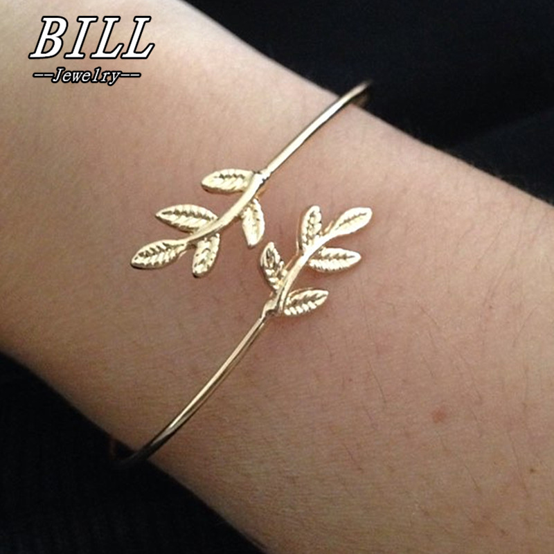SL163 2018 Leaves Guld & Silverpläterade Armband & Bangles Mode - Märkessmycken