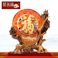 First blessing word ornaments living room ornaments new house home decoration crafts creative gifts feng shui