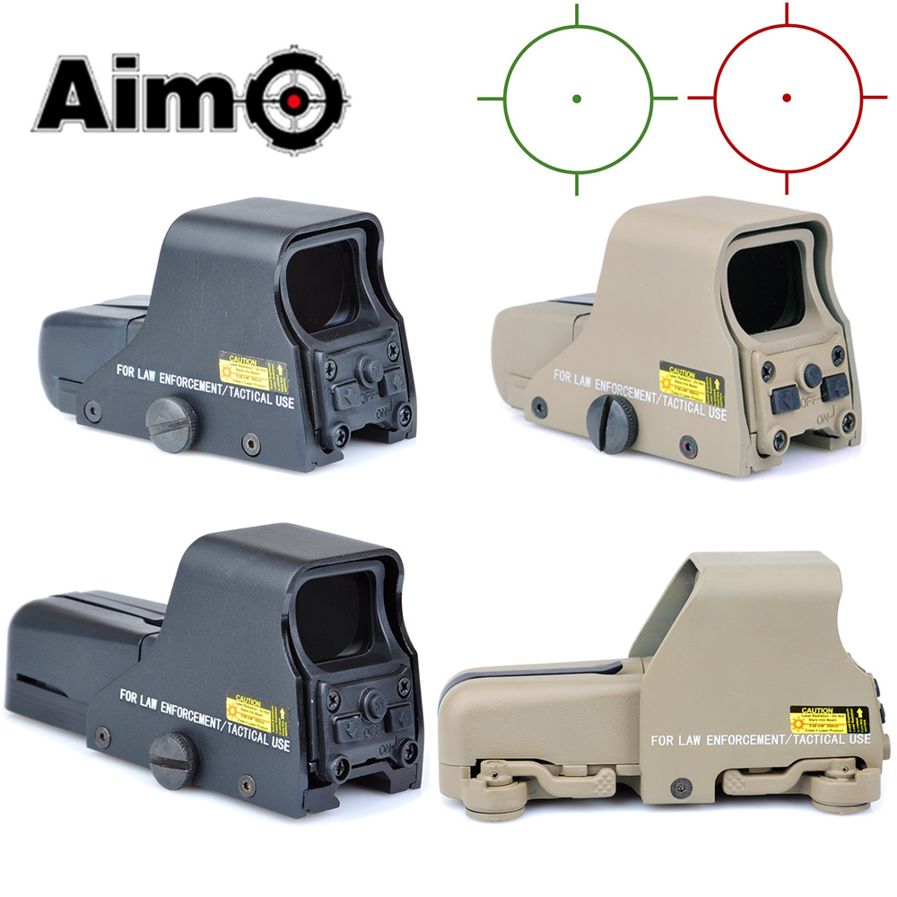 WADSN Collimator Holographic Sight Red Green Dot Optic Sight Reflex Sight With 20mm Rail Mounts For Airsoft Sniper Rifle Hunting