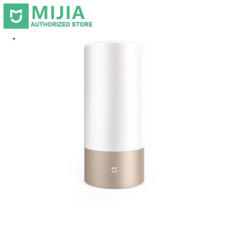 الأصلي xiaomi mijia mi الذكية ضوء داخلي السرير مصباح طاولة مكتب xnumx مليون rgb لمسة تحكم بلوتوث wifi ل mihome app