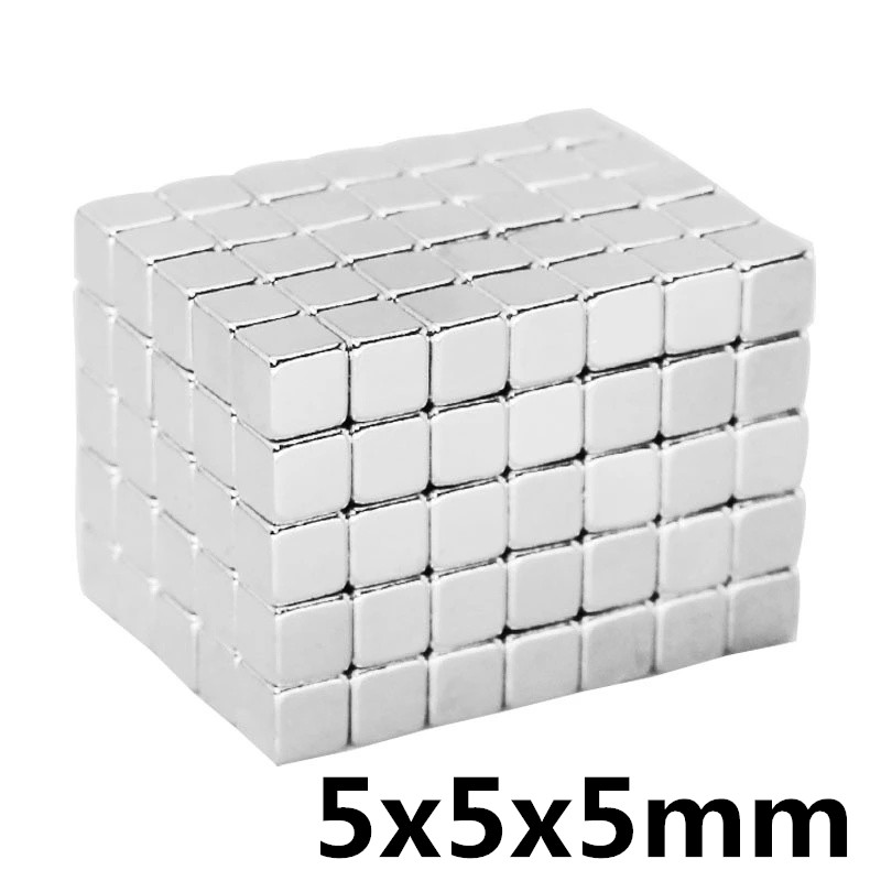 10pcs <font><b>5x5x5</b></font> mm Strong Rare Earth Block square <font><b>Neodymium</b></font> <font><b>Magnets</b></font> 5x5x5mm strong <font><b>magnet</b></font> 5*5*5 mm image