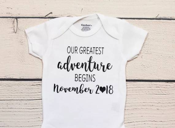b748721c1c7dd US $13.42 16% OFF|personalized Pregnancy announcement kids t shirts  birthday Maternity photo shoot baby shower bodysuit onepiece romper Outfit  -in ...