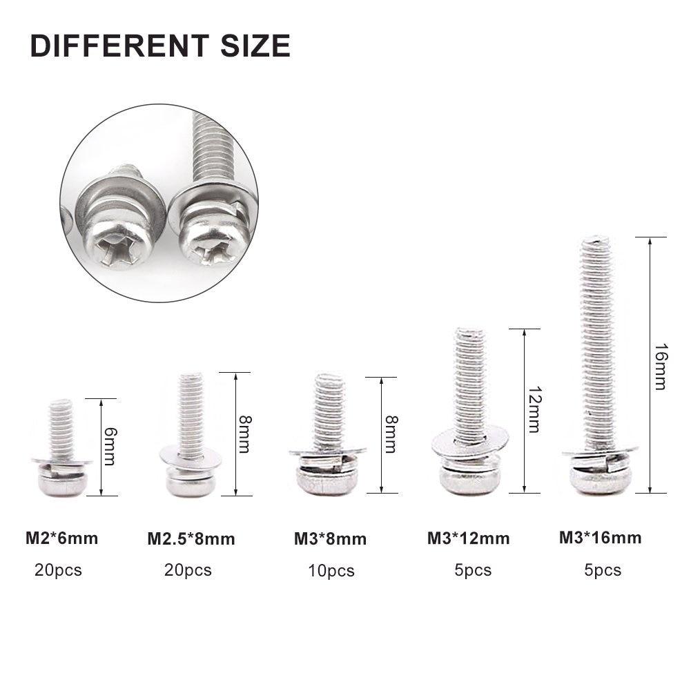M8 5-8mm Hex Nuts Bolts Washer Assortment Kit Fasteners 460pc Metric M5