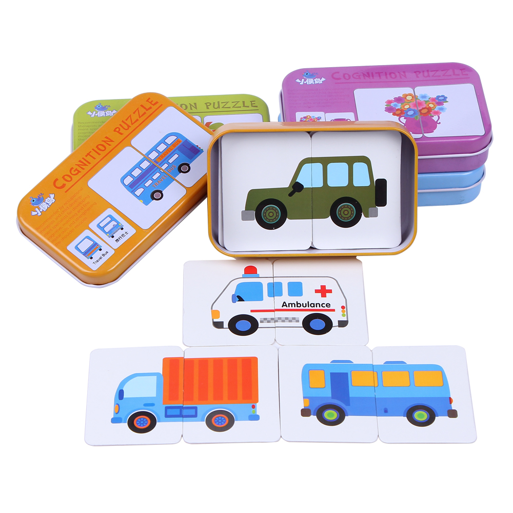 New Arrival Baby Toys Infant Early Head Start Training Puzzle Cognitive Card Vehicl Fruit Animal Life