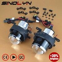 SINOLYN OEM HID Bi Xenon Fog Lights Projector Lens Driving Lamps Retrofit For Ford Honda CRV