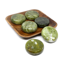 6x6cm Spa hot Stone Beauty Stones Massage Green stone Natural Hot Relieve Stress RELAX jade massage set toe