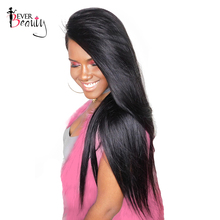 250% Density Lace Front Human Hair Wigs For Black Women Brazilian Remy Straight Hair Wig Natural Color Ever Beauty