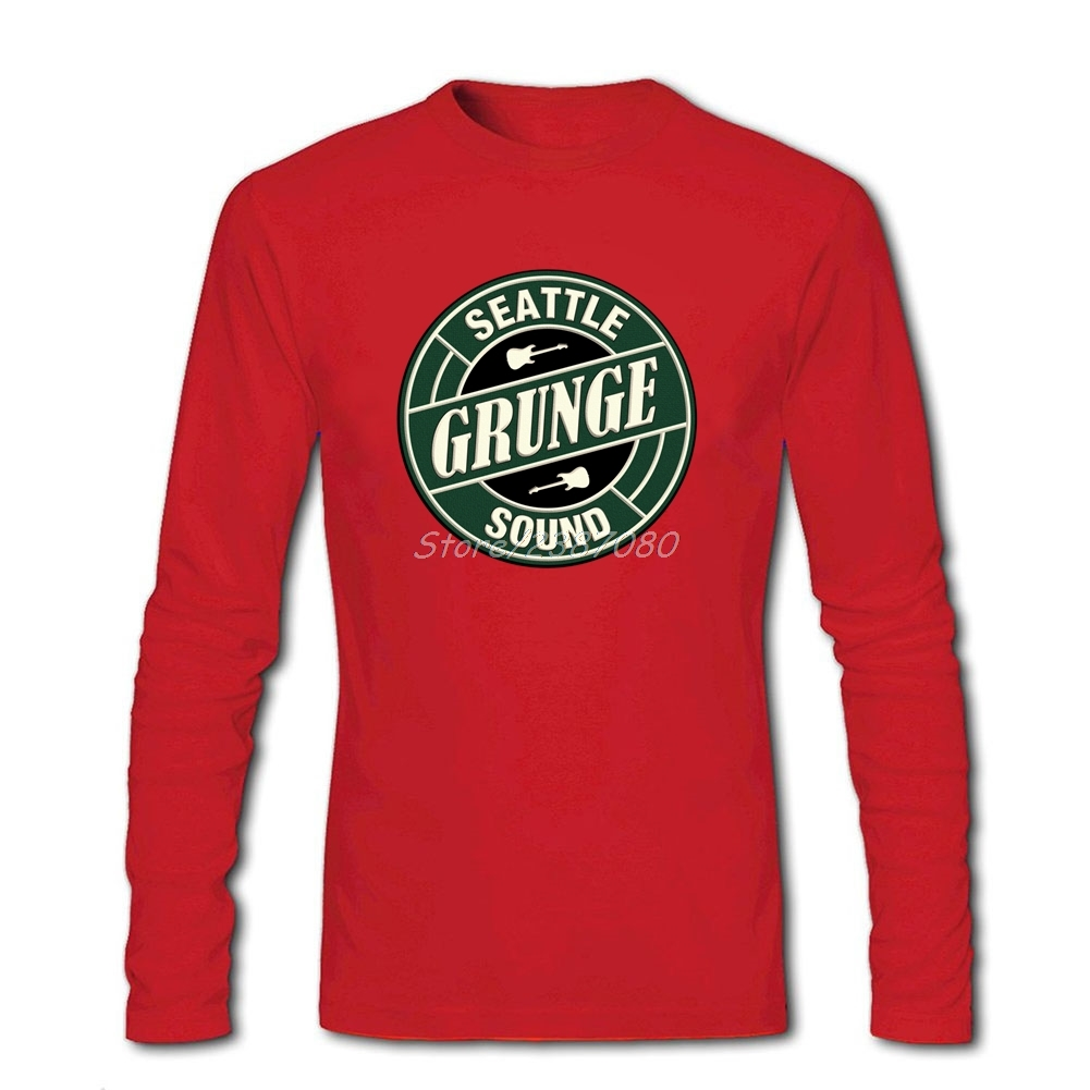 f7499de5a Hipster Grunge Seattle Sound T Shirt Couple Tshirt Men Cotton Long Sleeve  Custom Tees Shirts Homme-in T-Shirts from Men's Clothing on Aliexpress.com  ...