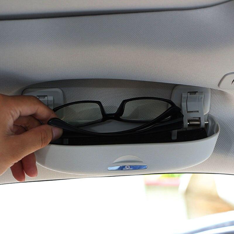 Jameo Auto Car Sunglasses Case Holder Glasses Cage Clip Storage Box for Jeep Compass 2017 2018 Accessories