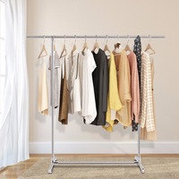 Giantex Heavy Duty Stainless Steel Garment Rack Clothes Hanging Drying Display Rail New Home Furniture HW53020