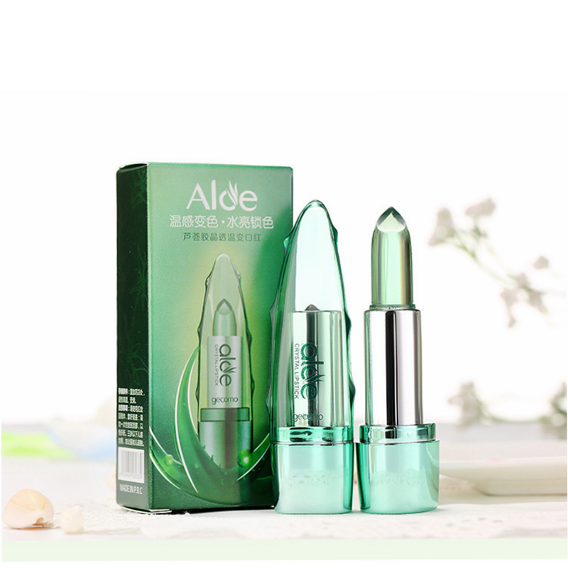 100% Natural Aloe Vera Gel Moisturising Lipstick/Lip Balm - Long Lasting Waterproof 14