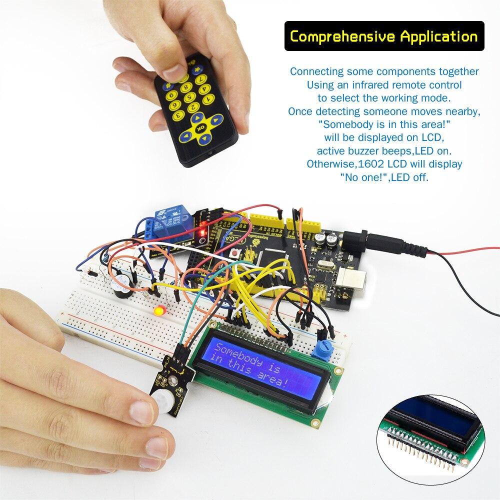 Купить с кэшбэком Keyestudio Super Starter Kit/Learning Kit For Arduino Education Project With Mega2560R3/+PDF(online)+32Projets &STEM