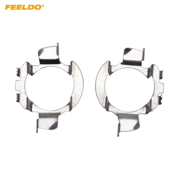 FEELDO 2Pcs Auto LED Headlight H7 Sokets Adaptor Holder For Mercedes Benz B-Class / C-Class / ML Class Ford Edge Lamp Base #5536 image