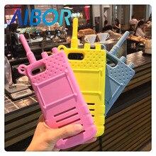 AIBOR Fashion cartoon sexy girl 3D simulation walkie talkie interphone telephone silicone