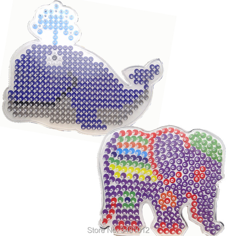 Image 3 - 2pcs/bag Hama Beads 5mm DIY Pegboard Jigsaw Perler Beads Puzzles Pegboards Craft Peg Boards Kids Educational Toys for Children-in Puzzles from Toys & Hobbies