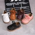 Новая детская обувь из натуральной кожи на весну и осень  тонкие туфли для мальчиков и девочек  кожаные туфли с мягкой подошвой  размер 21-30