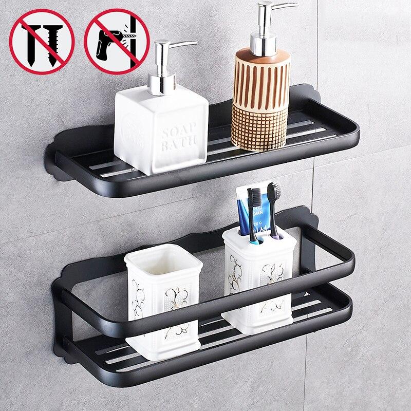 Nail Free High Quality Bathroom Shelves Never Rust Shelf For Bathrooms Rack  Wall Shelf Bathroom Accessories