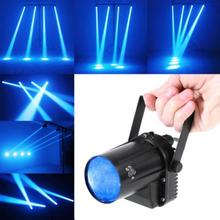 цена 5W Blue Stage Lighting Effect LED Beam Spotlight Dance Party DJ Bar Spin Stage Light Pinspot Lights for Disco Clubs KTV Pub Bar онлайн в 2017 году