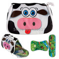 Cartoon Cute Pets Cow Dog Dolph Freezable Insulated Lunch Box Bag Place Mat For Kids Children School Picnic Food Container Bags