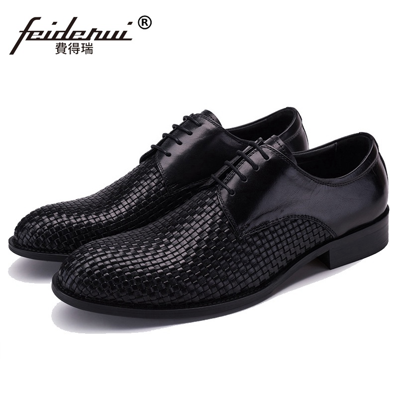 Hot Sale Formal Handmade Man Bridal Dress Flats Shoes Genuine Leather Male Oxfords Brand Round Toe Derby Men's Footwear VK80 mlhj fashion female genuine leather small shoulder bag women clutch bag luxury women messenger cross body crossbody bag woman