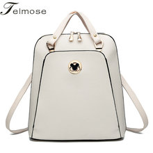 K8854 Multi use High quality PU Leather Mochila Escolar School Bags For Teenagers Girls Top handle