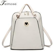K8854 Multi use High quality PU font b Leather b font Mochila Escolar School Bags For