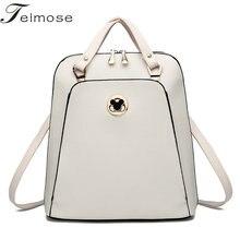 K8854  Multi-use High quality  PU Leather Mochila Escolar School Bags For Teenagers Girls Top-handle Backpacks