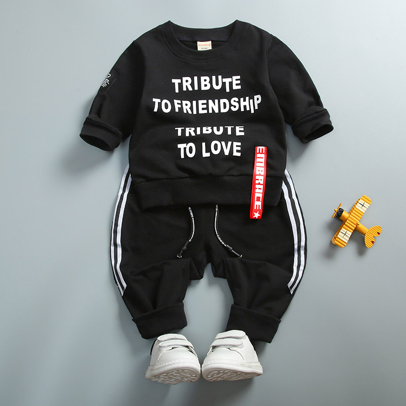 Spring Autumn Baby Boys Clothes Full Sleeve Tshirt And Pants 2pcs Cotton Suits Children Clothing Sets Toddler Brand Tracksuits