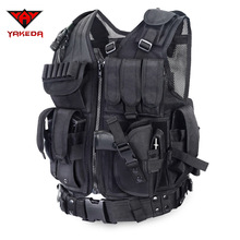 2016 Policía Body Armor Chaleco Táctico Militar de Camuflaje Al Aire Libre Ropa Deportiva Chaleco De Caza Del Ejército Swat Molle Chaleco Negro