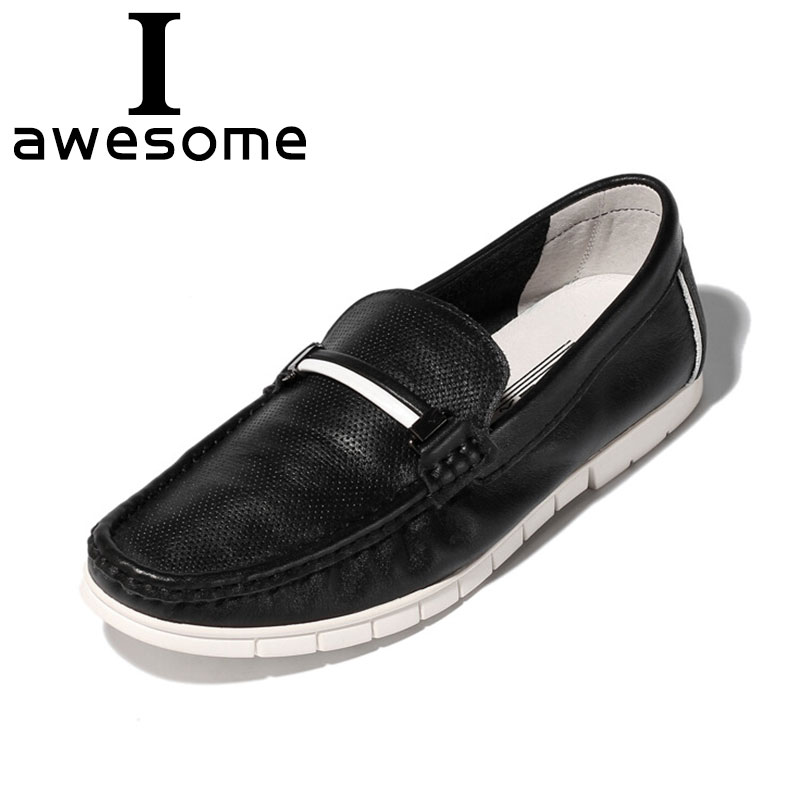 Formal Business Shoes Flats Boat Shoes,Black,43 Hy Mens Shoes Spring//Fall Leather Lightweight Casual Loafers Soft Sole Driving Shoes