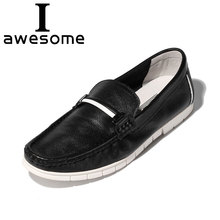 2018 New Arrival Genuine Leather Fashion Mens Casual Shoes Breathable Business Driving Moccasins Slip On Loafers Men Flat Shoes new men s octopus leather penny loafers crocodile slip on driving shoes mens casual shoes moccasins business boat shoes branded