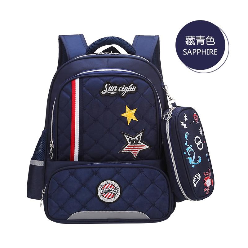 Waterproof Children School Bags For Boys Orthopedic Kids Cartoon primary School Backpacks Schoolbags Kids Mochila Infantil Zip