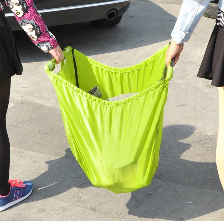 Aliexpress.com : Buy green supermarket Shopping Bag Foldable ...