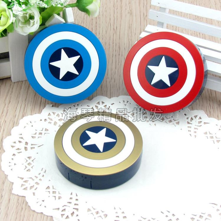 LIUSVENTINA Venta Caliente linda Encantadora caja de lentes de contacto Capitán América caja de lentes para lentes de color Regalo para niñas y niños