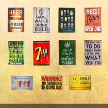 Save Water Drink Best Beer Vintage Tin signs Home Decor For Bar Cafe Metal Plate Poster Wall