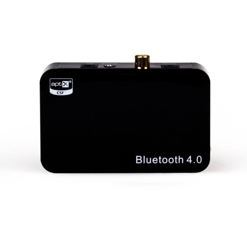 Haute Qualité Bluetooth 4.0 Musique Récepteur Adaptateur Noir NOUVEAU 2017 Aptx Numérique Optique Coaxial/3.5mm Sortie Aux Adaptateurs Sep03